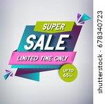 trendy sale banner design....   Shutterstock .eps vector #678340723