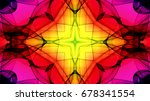 abstract neon colored lights... | Shutterstock . vector #678341554