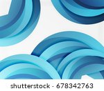 3d wave lines design. dynamic... | Shutterstock .eps vector #678342763