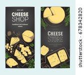 cheese top view  vertical... | Shutterstock .eps vector #678342820