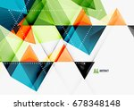 triangular low poly a4 size... | Shutterstock . vector #678348148