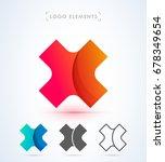 vector origami letter x logo.... | Shutterstock .eps vector #678349654