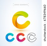 vector origami letter c logo.... | Shutterstock .eps vector #678349660