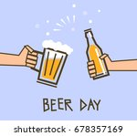 hands holding a glass and a...   Shutterstock .eps vector #678357169