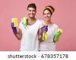housekeeping  domestic duties... | Shutterstock . vector #678357178