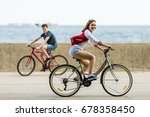 urban bicycle   teenage girl... | Shutterstock . vector #678358450