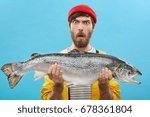 headshot of funny emotional... | Shutterstock . vector #678361804