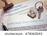mortgage loan agreement... | Shutterstock . vector #678363043