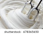 whipped cream and mixer | Shutterstock . vector #678365650