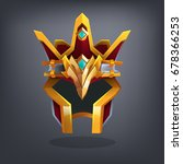 iron fantasy armor helmet for... | Shutterstock .eps vector #678366253