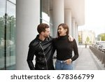 stylish confident young bearded ... | Shutterstock . vector #678366799