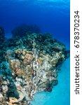 an anchor chain from a cruise... | Shutterstock . vector #678370234