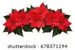 poinsettia flowers wave... | Shutterstock . vector #678371194