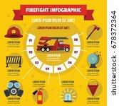 firefight infographic banner... | Shutterstock .eps vector #678372364