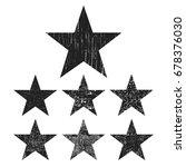 set of black grunge stars... | Shutterstock .eps vector #678376030