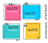 colored quote square template.... | Shutterstock .eps vector #678376039