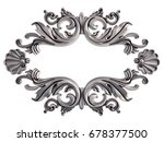 chrome ornament on a white...   Shutterstock . vector #678377500