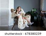 little sad girl sitting in the... | Shutterstock . vector #678380239