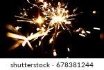 burning sparklers in blurred...   Shutterstock . vector #678381244