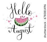 vector lifestyle lettering ... | Shutterstock .eps vector #678381496
