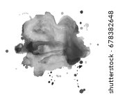 abstract watercolor grayscale... | Shutterstock .eps vector #678382648