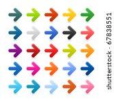 25 simple arrow icon web 2.0... | Shutterstock .eps vector #67838551
