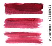set of red brush strokes... | Shutterstock . vector #678385636