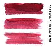 set of red brush strokes... | Shutterstock . vector #678385636
