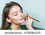 closeup portrait of a woman...   Shutterstock . vector #678386143
