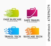 set of suitcase logo designs...   Shutterstock .eps vector #678396274