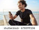 stylish male dark skinned...   Shutterstock . vector #678399106