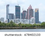 bangkok city day view with main ... | Shutterstock . vector #678402133
