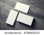 photo of blank business cards... | Shutterstock . vector #678403513