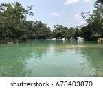 tropical falls | Shutterstock . vector #678403870