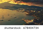 langkawi eagle statue malaysia  ... | Shutterstock . vector #678404734