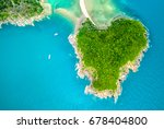 aerial view from the drone on... | Shutterstock . vector #678404800