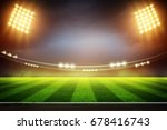 lights at night and football ... | Shutterstock . vector #678416743