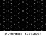 ornament with elements of black ... | Shutterstock . vector #678418084