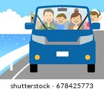 family to go out by car | Shutterstock .eps vector #678425773