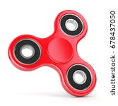 spinning fidget toy. red... | Shutterstock . vector #678437050