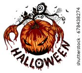 halloween background by hand...   Shutterstock .eps vector #678438274