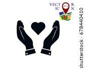 heart in hand icon  vector best ...   Shutterstock .eps vector #678440410