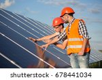 worker and foreman maintaining... | Shutterstock . vector #678441034