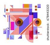 trendy geometrical vector...   Shutterstock .eps vector #678443320