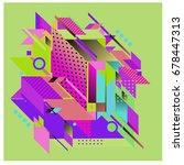 trendy geometrical vector... | Shutterstock .eps vector #678447313