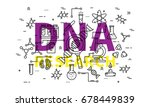 dna research vector... | Shutterstock .eps vector #678449839