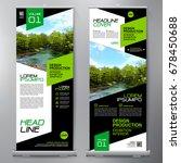 business roll up. standee... | Shutterstock .eps vector #678450688
