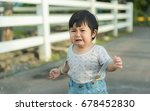 asia cute girl sick and crying... | Shutterstock . vector #678452830
