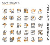 growth hacking elements   thin... | Shutterstock .eps vector #678454660