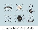 set of emblem  label and design ... | Shutterstock .eps vector #678455503